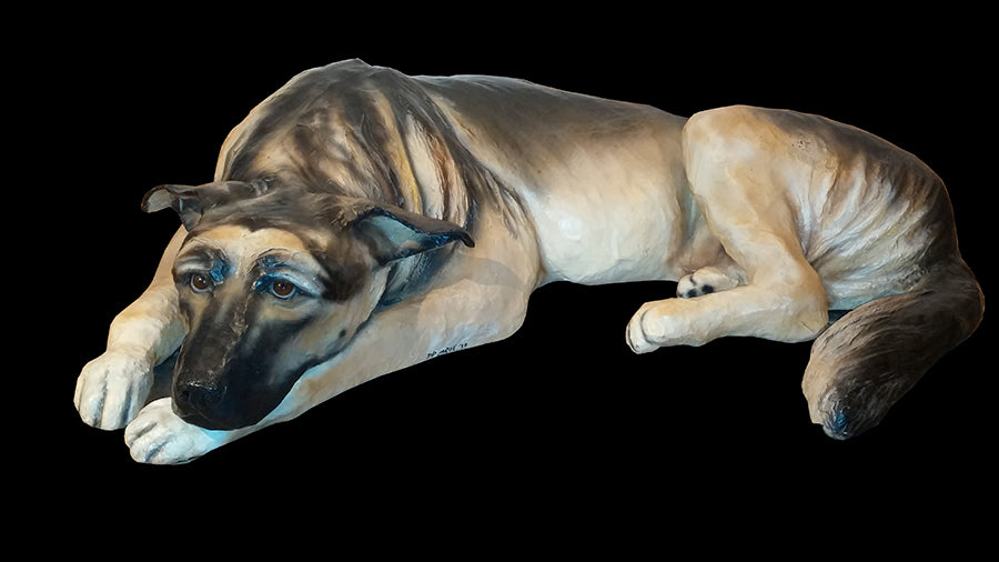 German Shepherd Sculpture by artist DD LaRue