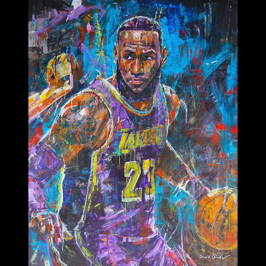 lebron james painting by artist david gonzales