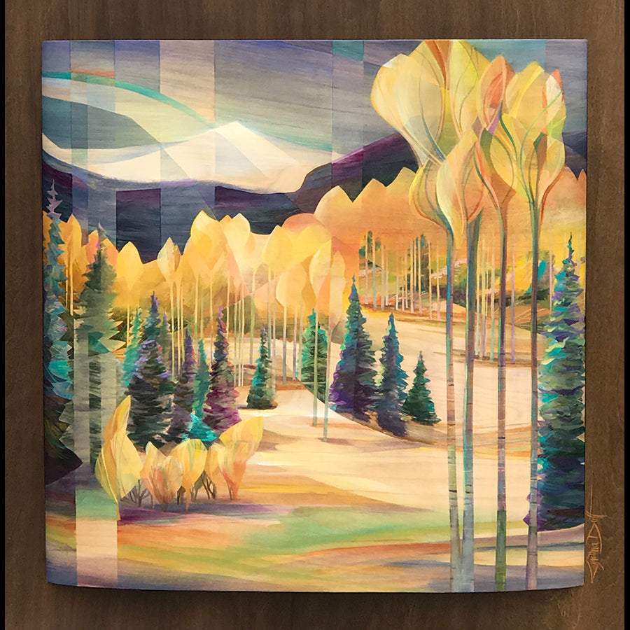 Guardian's Promise aspen painting by artist Cynthia Duff in vail art gallery
