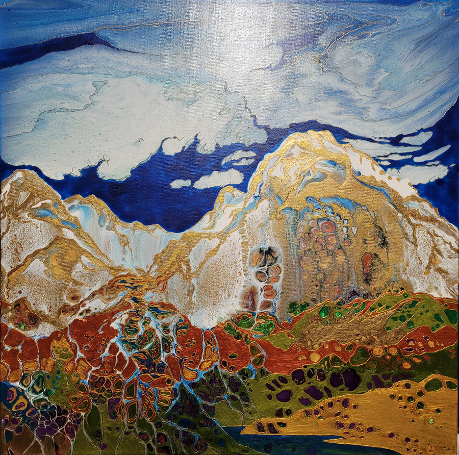 Headwaters mountain landscape by artist kate mccavitt
