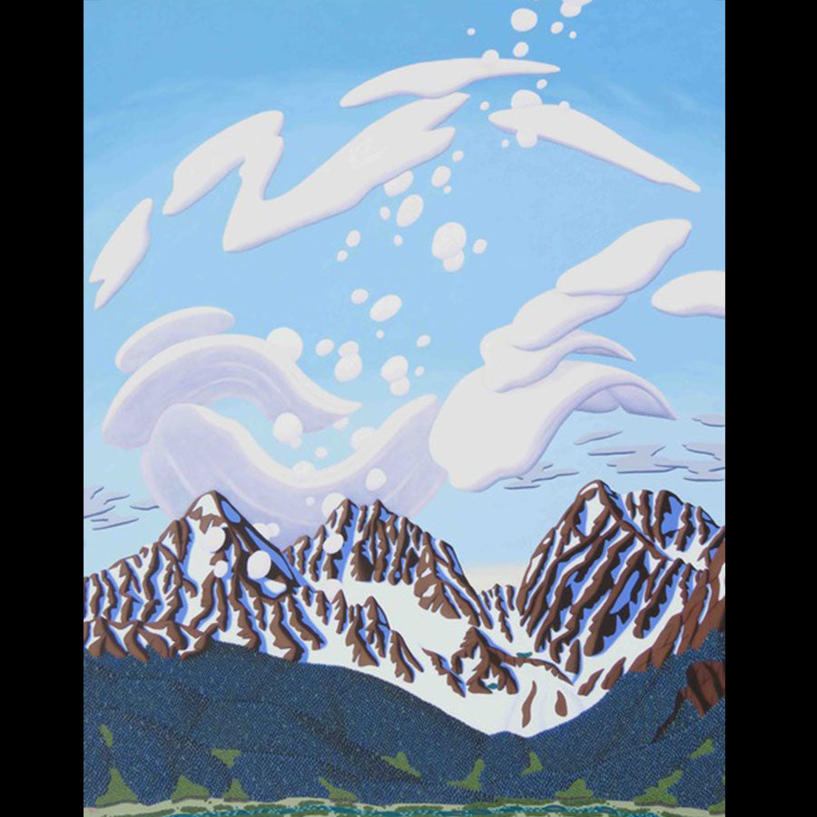 The three apostles Collegiate Range Colorado original painting by artist Tracy Felix for sale
