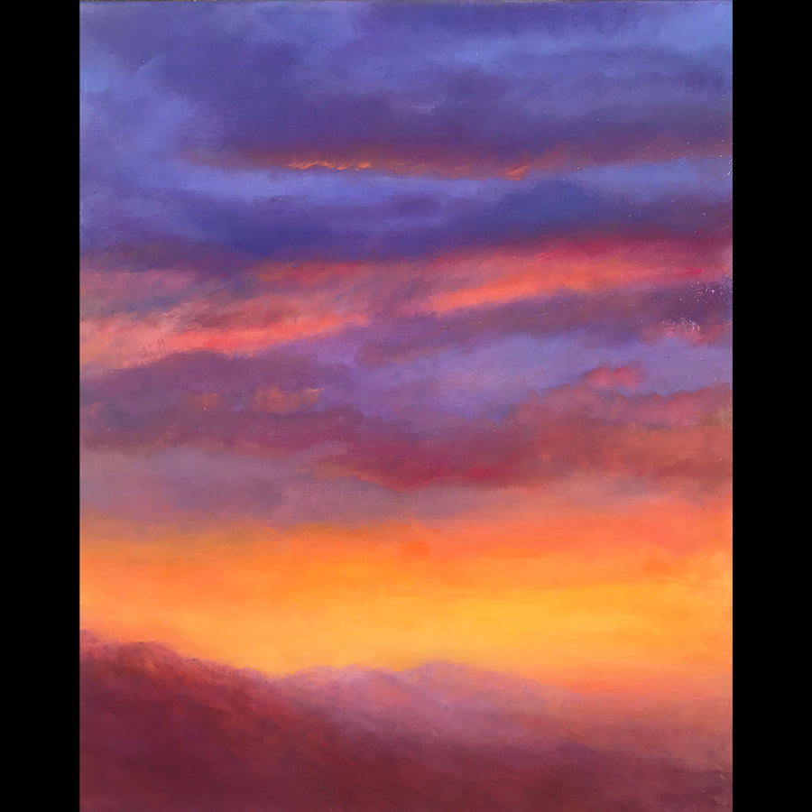 Mountain Sunset Original Artwork Artist Judy Greenan for Sale Colorado impressionist impressionism painting