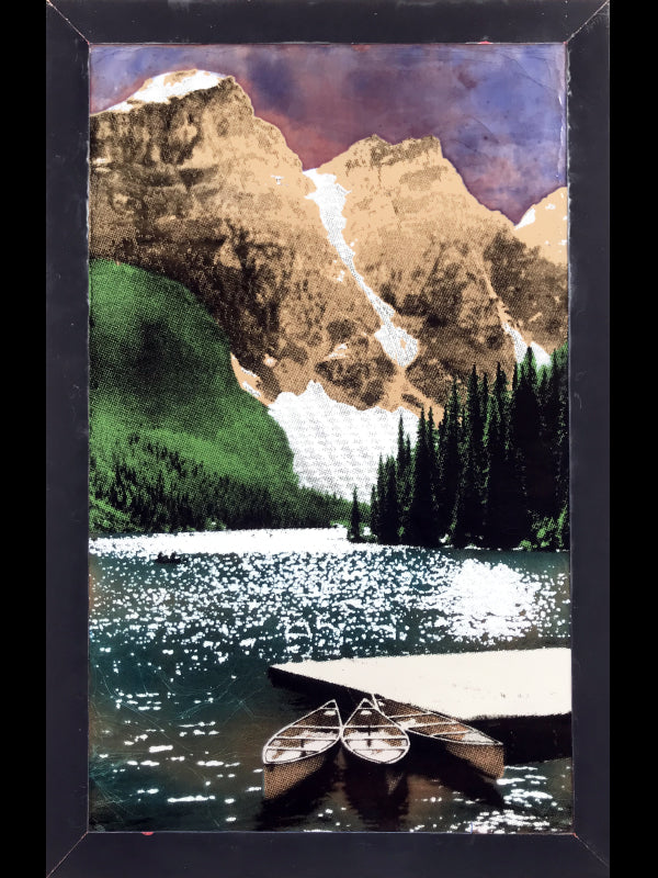 Idyll Lake by Houston Llew. Custom Spiritile Exclusive to Raitman Art Galleries in Vail and Breckenridge, Colorado