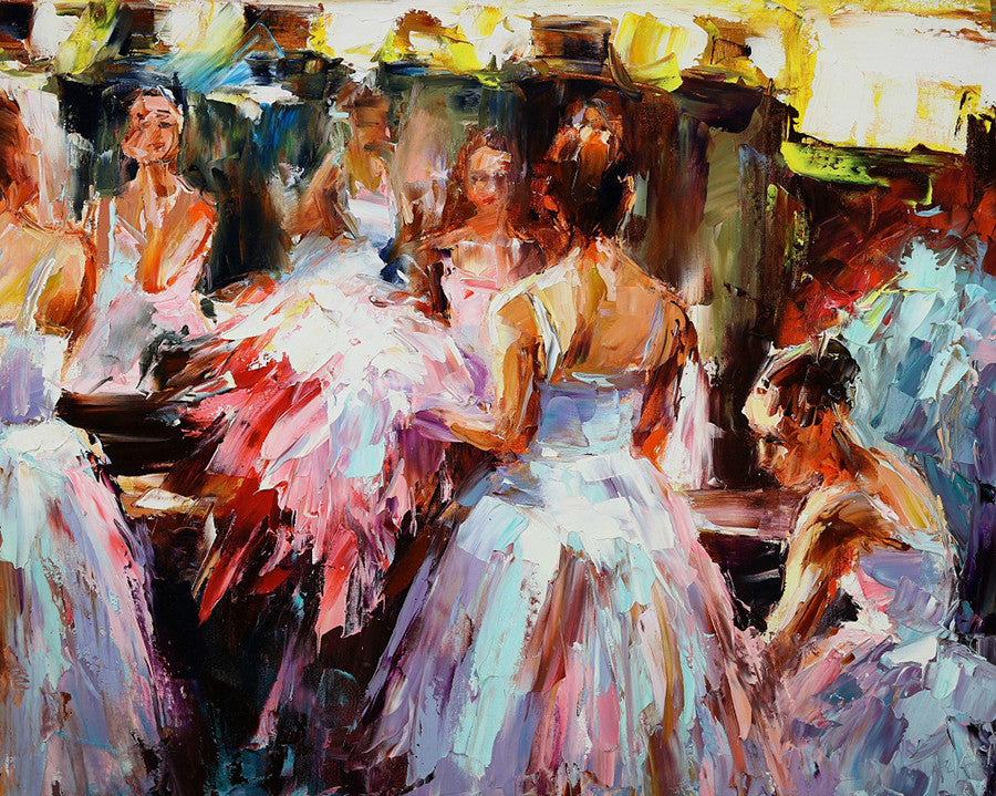 Ballet Dancer Painting by Lyudmila Agrich