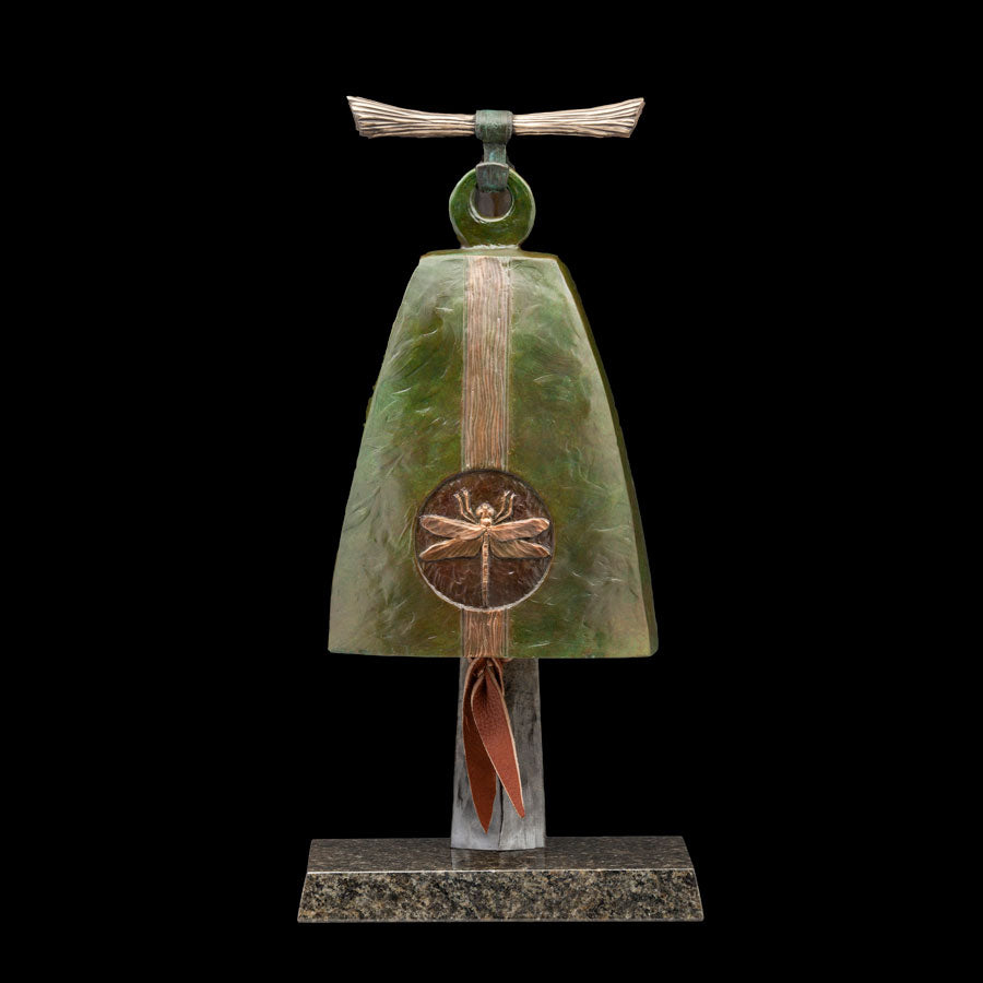 Independence bronze bell Sculpture created by colorado artist james g moore