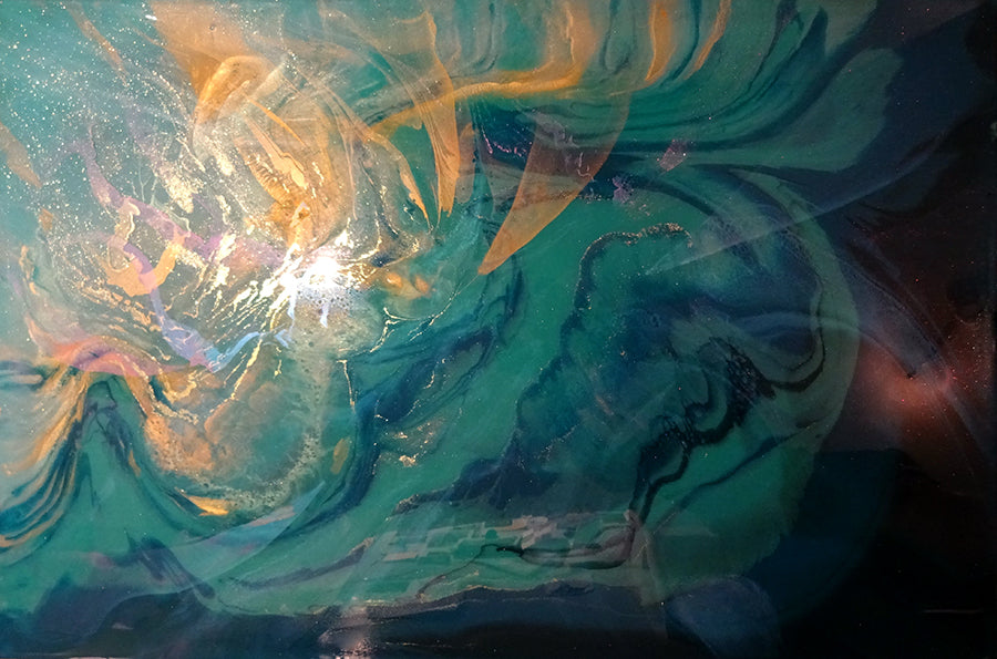 Inner Reflection resin painting artist chris lundy