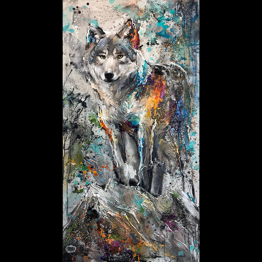 Miri Rozenvain Original Wolf Painting: Instincts of a Leader