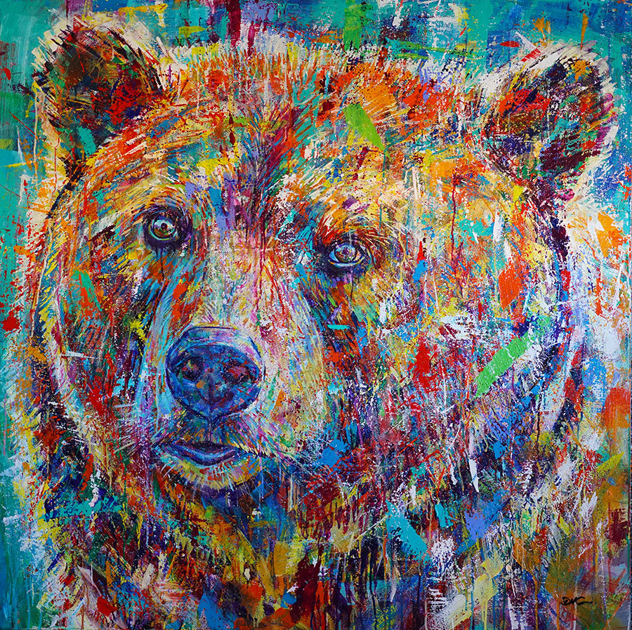 kindly original david gonzales bear painting