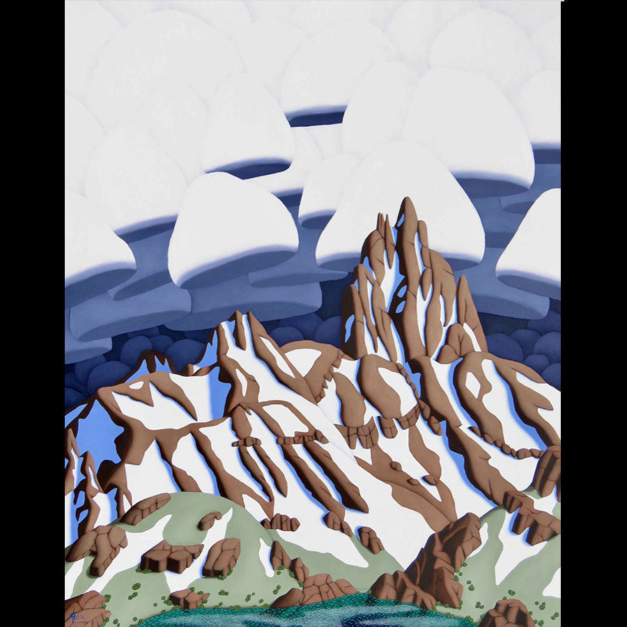 Lizard Head Peak original oil on panel mountain landscape painting by Colorado artist Tracy Felix