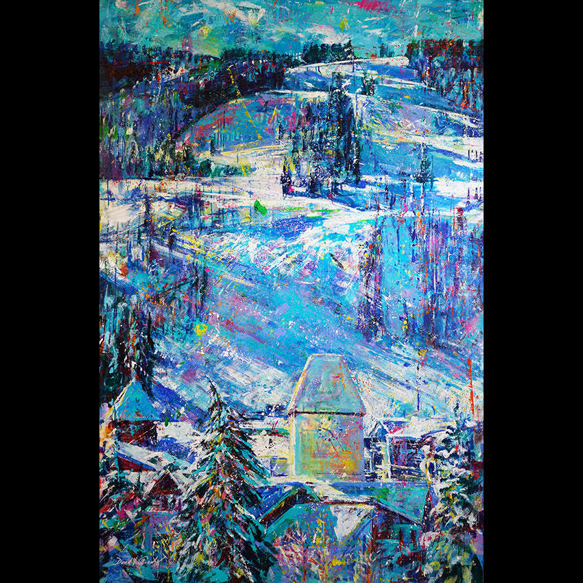 Vail Village Painting by Colorado Artist David V. Gonzales in Vail Art Gallery
