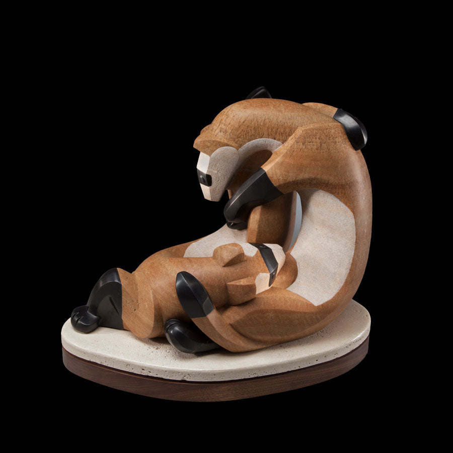ferret sculpture by artist Ellen Woodbury