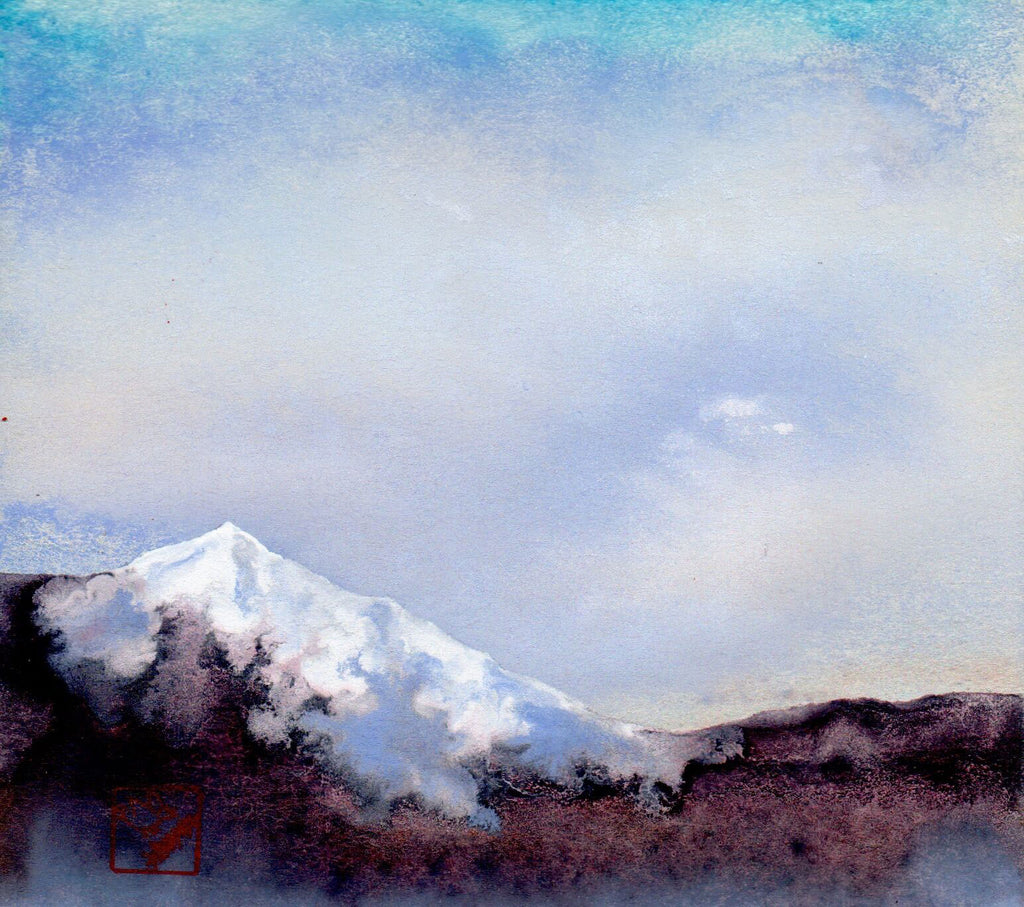 Morning Light on the Mountains artist Kay Stratman