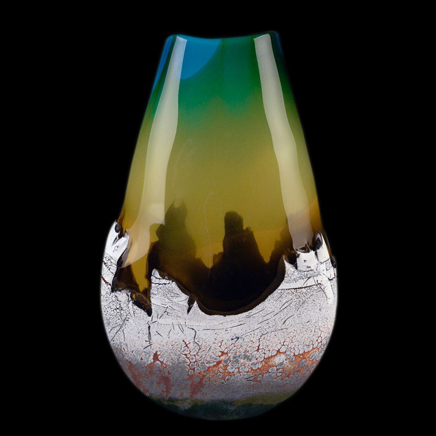Mountain Vista Sunset original glass are by Colorado based artist Jared and Nicole Davis