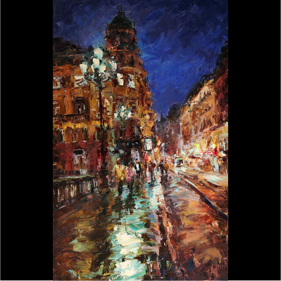 Nocturnal Etude original oil painting by Lyudmila Agrich for sale at Raitman Art Galleries
