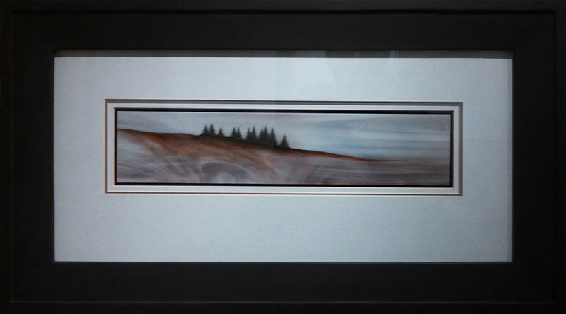 Northern Passage original glass fired powder painting colorado artist Gary Vigen
