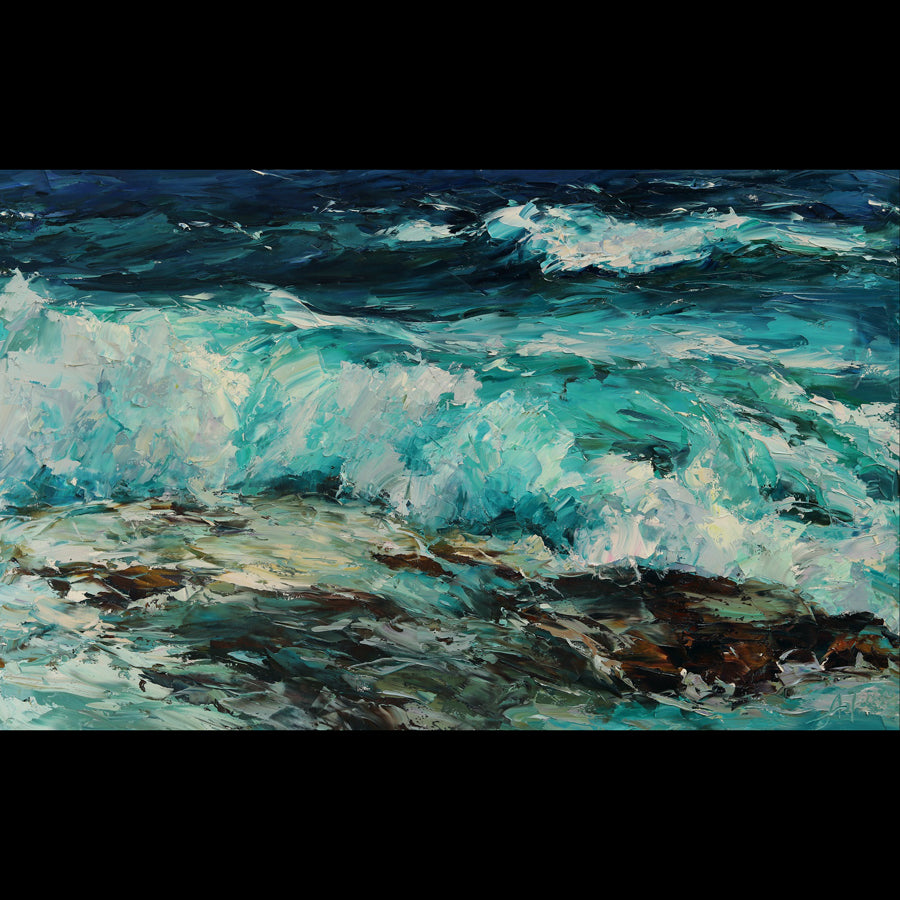 Ocean Surf ocean painting by lyudmila agrich for sale at Raitman Art Galleries