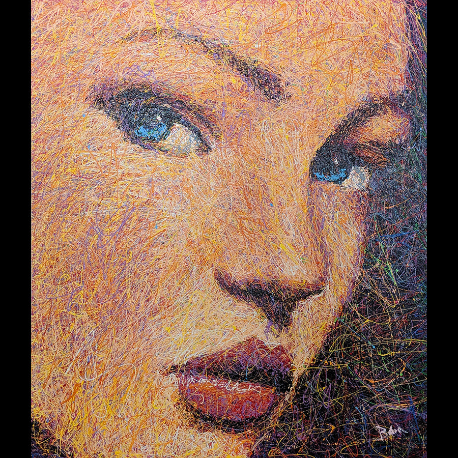 Artist Andy Baird Original Portrait Painting of Olivia