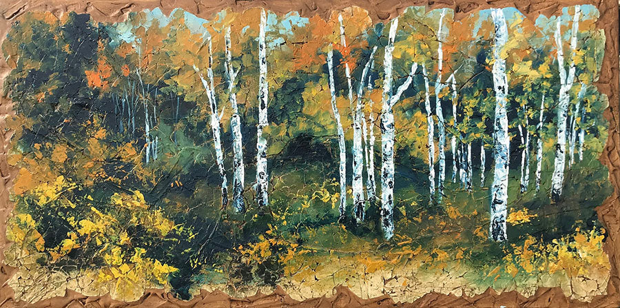 On Tippy Toes original oil landscape painting by Colorado artist Rolinda Stotts