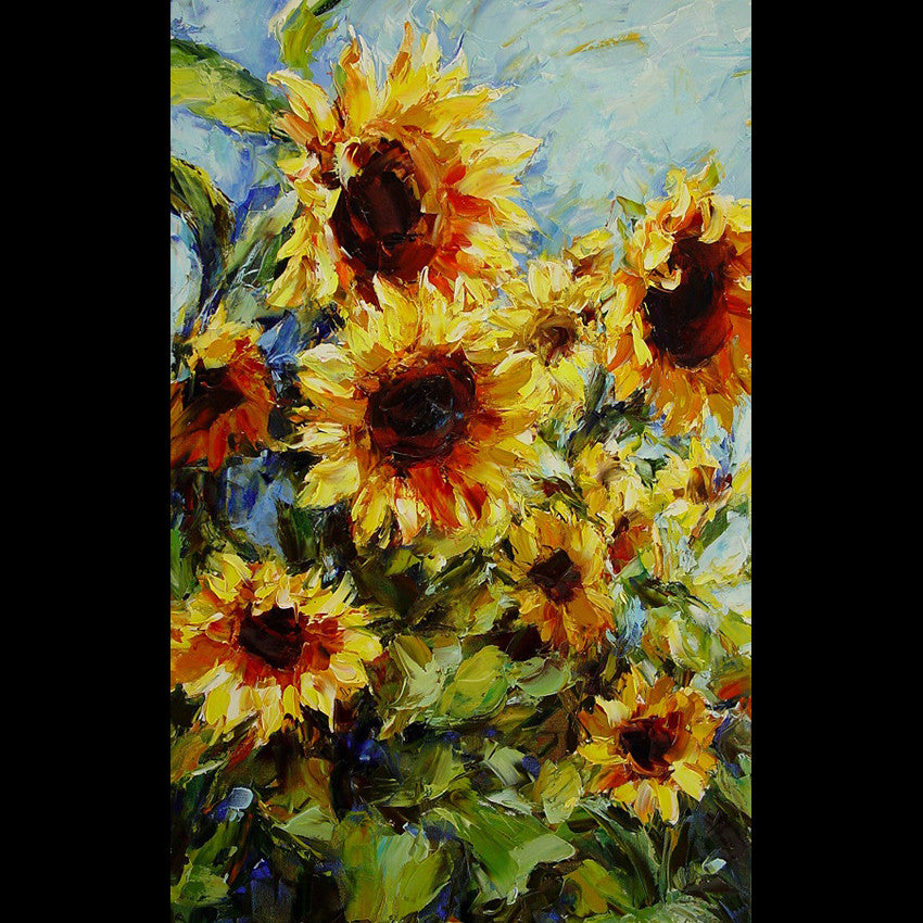 sunflower painting by Lyudmila Agrich