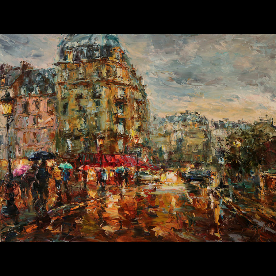 Parisian Reflections cityscape by lyudmila agrich for sale at Raitman Art Galleries