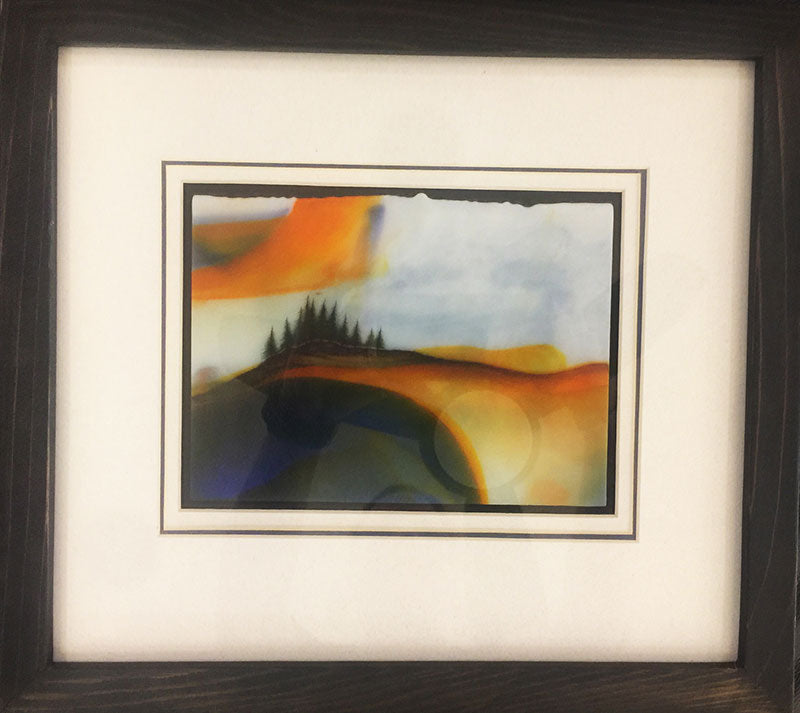 Part of the Beauty and Diversity of the Northwest original glass fired powder painting by Colorado artist Gary Vigen