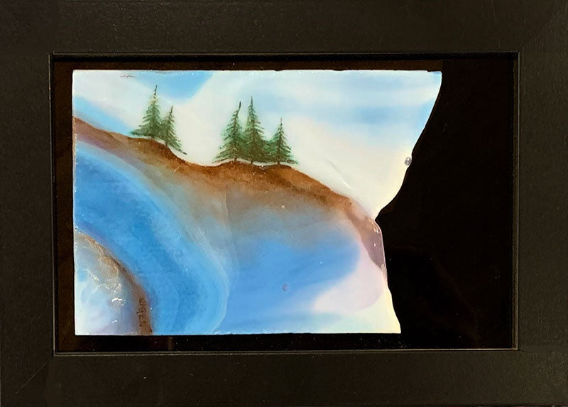 Passion of Nature original glass fired powder painting Colorado artist Gary Vigen