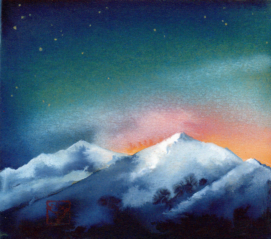 Peak 10 Study Breckenridge original watercolor by artist Kay Stratman