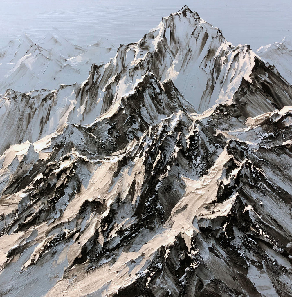 Barak Rozenvain Original Painting of Mountains - Perfect Day