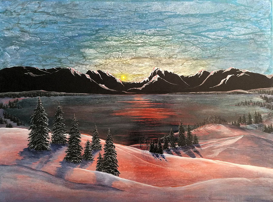 Piney Lake Sunrise original landscape painting by artist Kate McCavitt