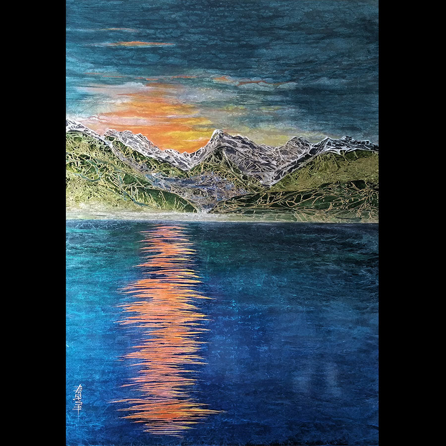 Piney Lake Sunset original landscape painting by artist Kate McCavitt