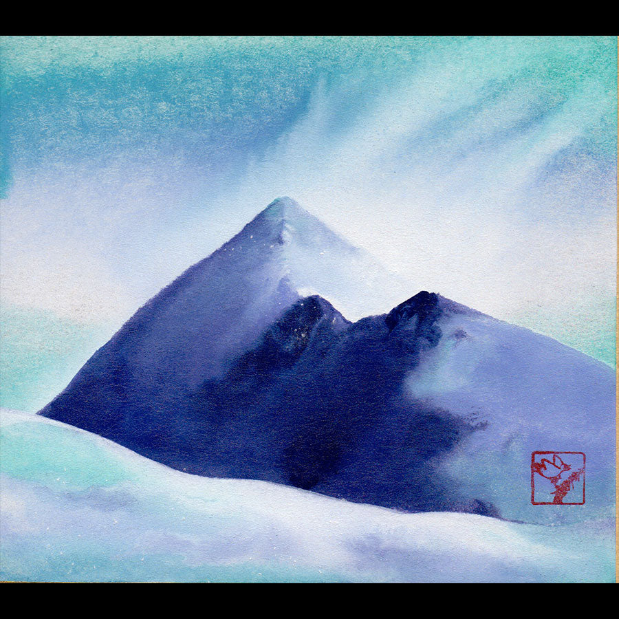 Quandary Snow Squall original landscape of Mt. Quandary painting by Kay Stratman