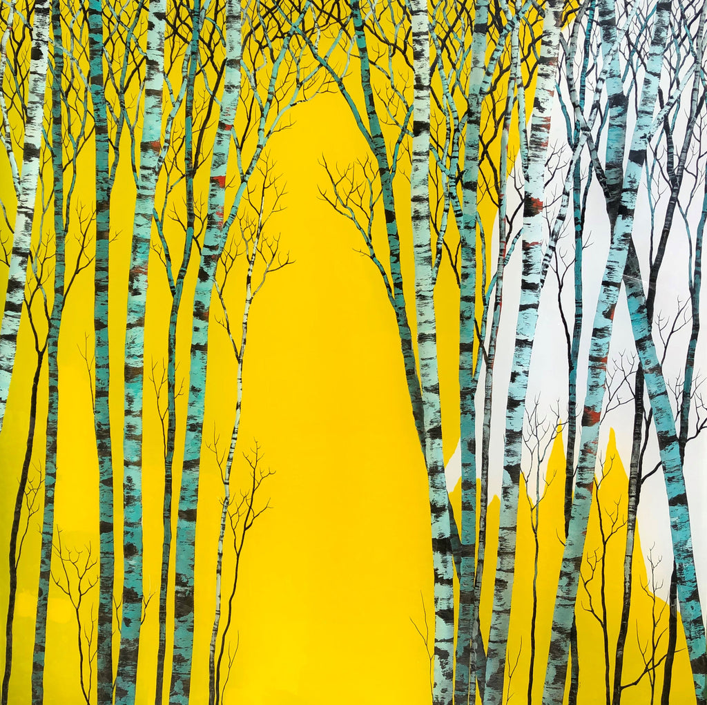 Redemption original carved acrylic and painted aspen landscape by colorado artist Christopher Owen Nelson