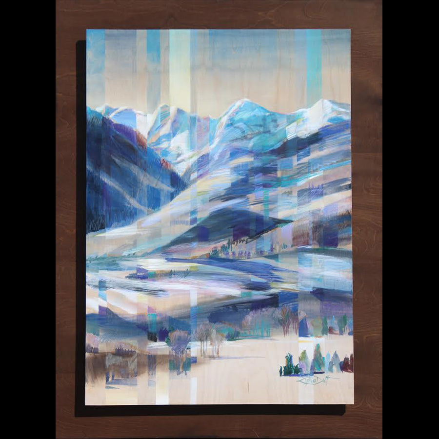 Repose Rhapsody original acrylic on birch wood painting by Colorado artist Cynthia Duff