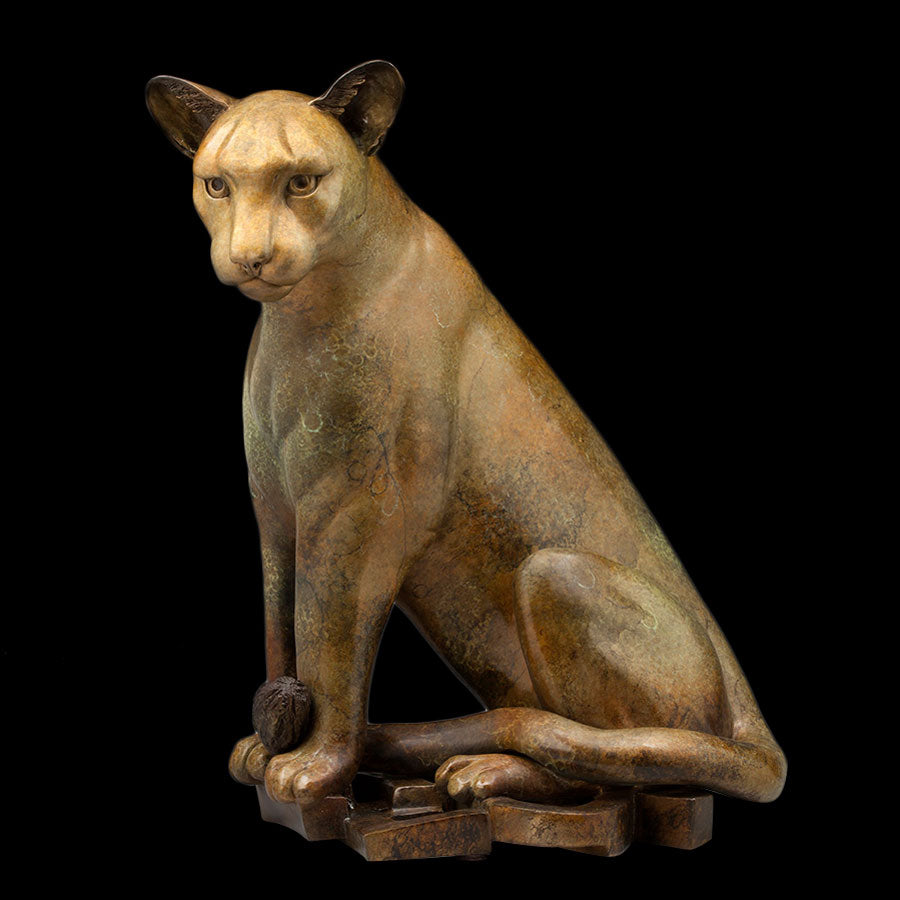 Mountain Lion bronze sculpture by Colorado artist Alex Alvis