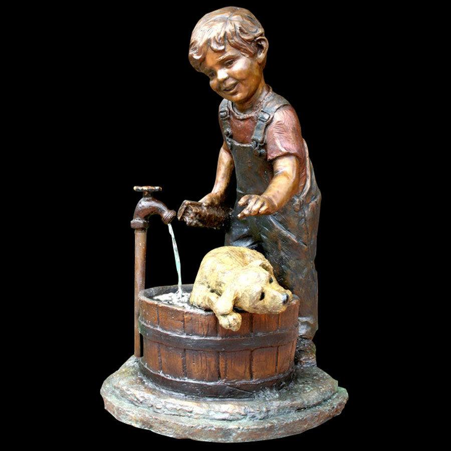 Rub-A-Dub bronze sculpture by artist Marianne Caroselli