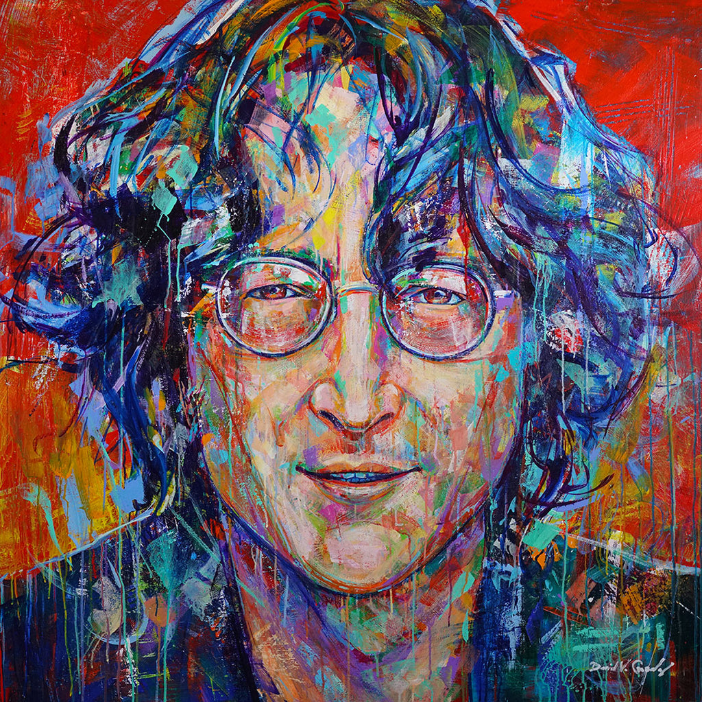 Shine On original John Lennon painting by Colorado artist David V Gonzales