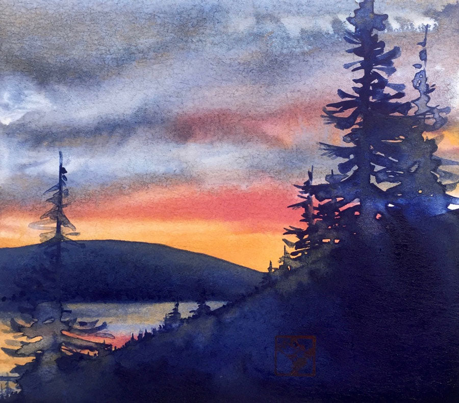 Sapphire Point Sunset lake dillion kay stratman painting
