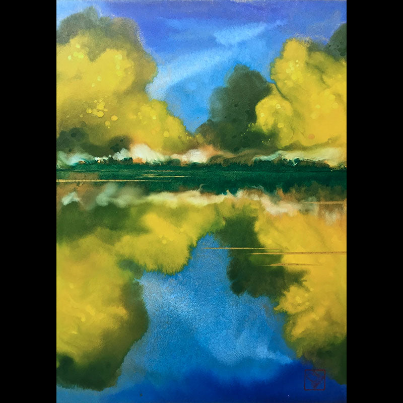 September Reflections original artist Kay Stratman