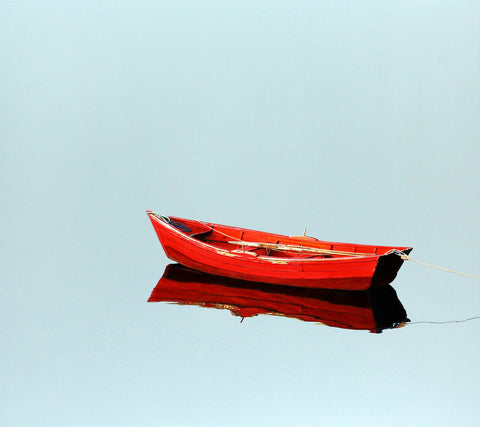 Single Red Skiff