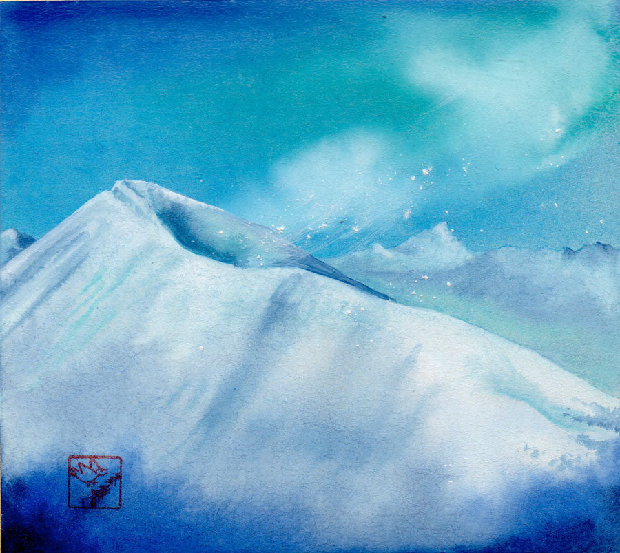 Snow Squall on Quandary Peak original painting by kay stratman