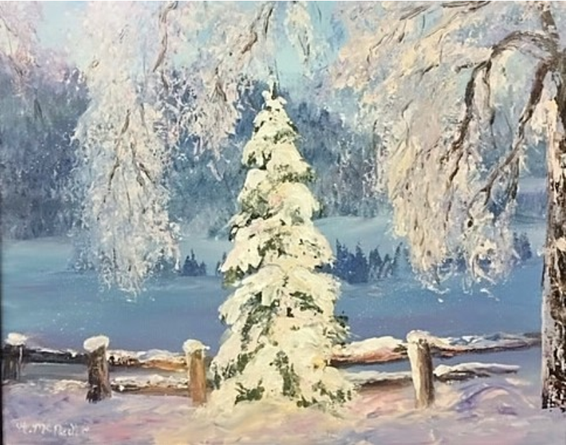 winter painting by artist katherine mcneill