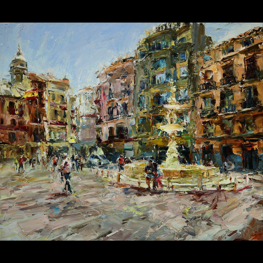 Spanish Afternoon original painting by Lyudmila Agrich for sale at Raitman Art Galleries