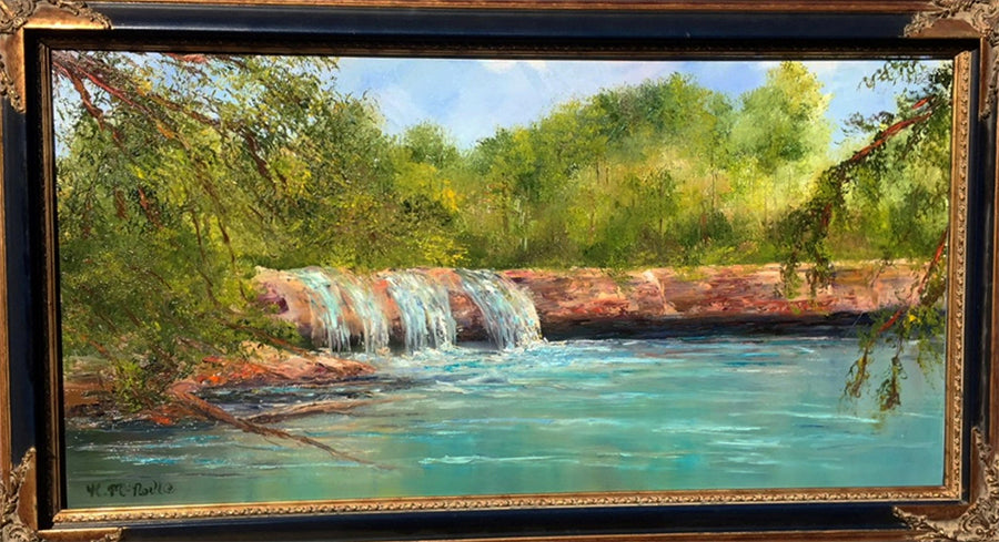 McKinney Falls painting by artist katherine mcneill