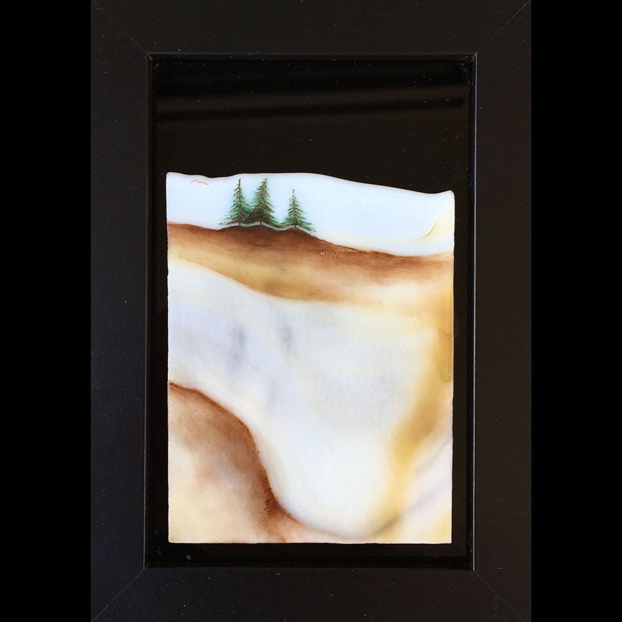Spring in the Hills original glass fired painting by artist Gary Vigen