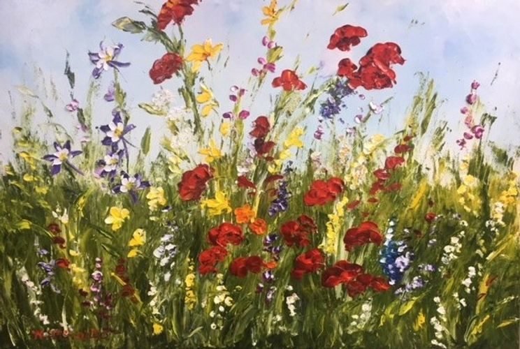 flower painting by artist katherine mcneill