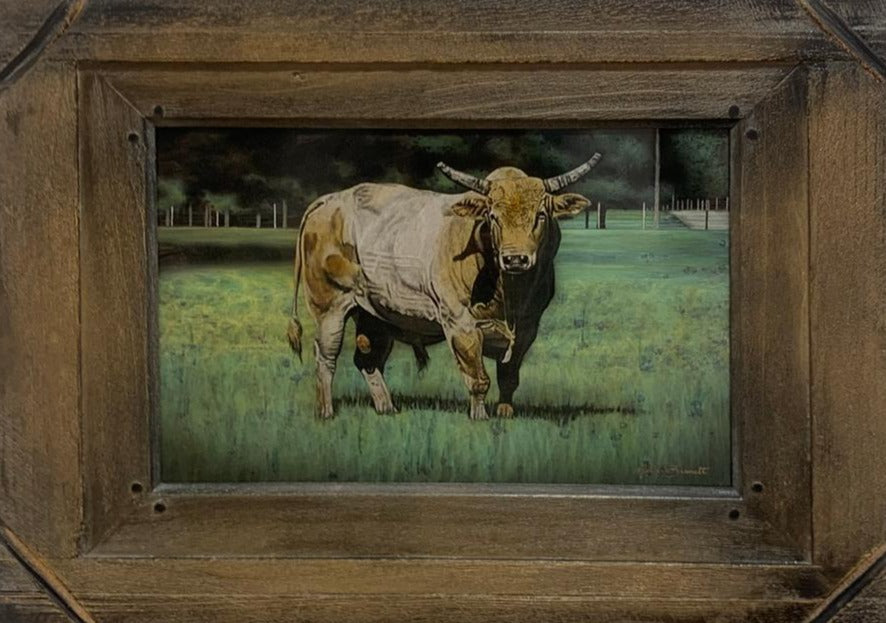 Sunday-nathan-bennett-bull-series-bronze-patina-artist-patineur-ranch-themed-art-for-sale