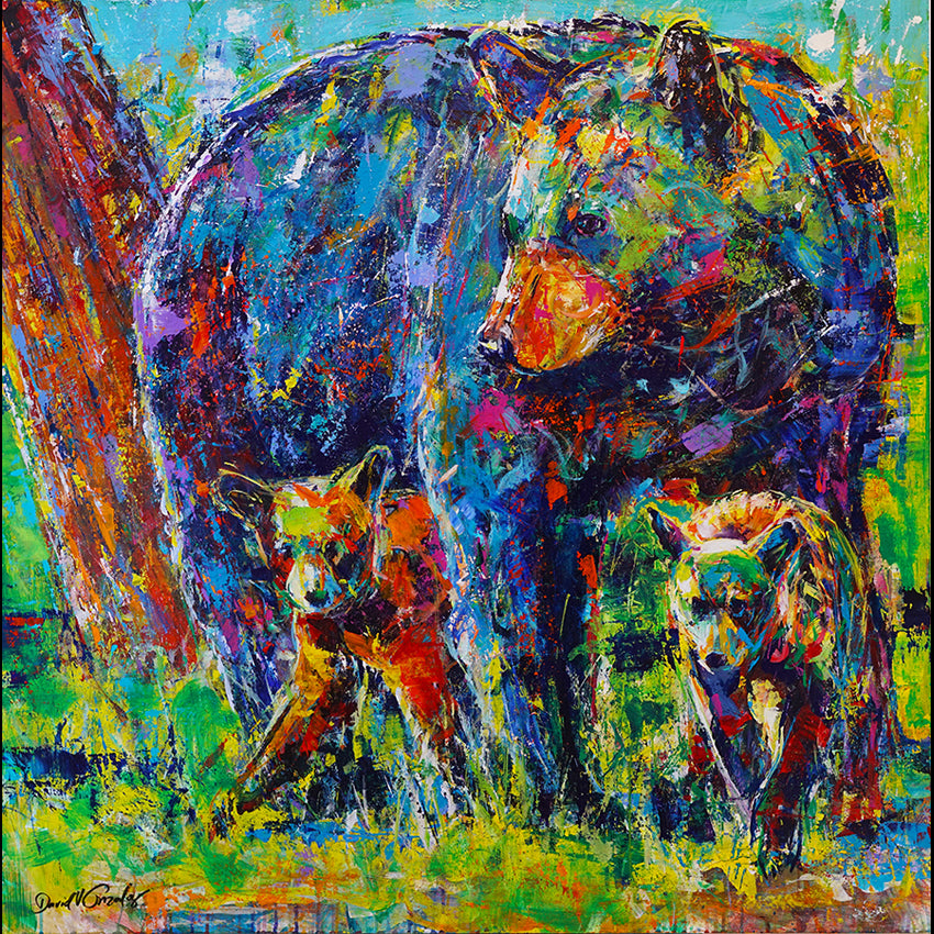 Bear painting by artist David Gonzales
