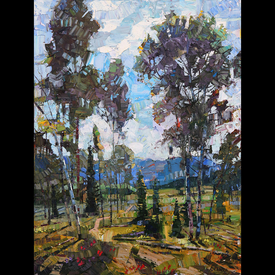 The Meadow original landscape painting by artist Robert Moore for sale