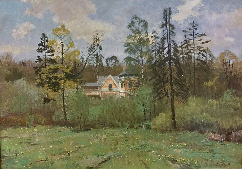 The Penates The House of the Artist ilya. Repin 1968 original oil on canvas painting by russian artist Vladimir Pavlovich Krantz