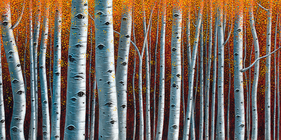 Artist Thane Gorek Autum Fall Aspen Tree Painting Colorado Art